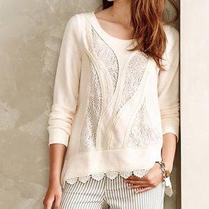 Anthropologie   angelofthenorth lace ways sweater